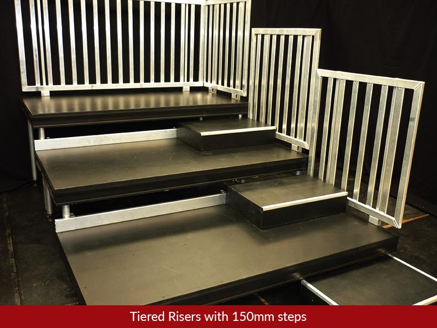 Tiered Risers Amp Audience Seating Hire Stronglite Staging
